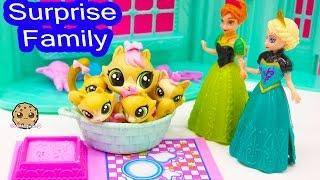 Download Littlest Pet Shop Kitty Cat Mom and Kitten Babies Surprise Families Playset - Cookieswirlc Video Video