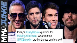 Download Daily Debate: Who won the ESPN+ 1 pre-fight press conference? Video