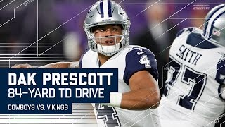 Download Prescott Makes Two Big Plays & Zeke Finishes Drive with TD! | Cowboys vs. Vikings | NFL Video