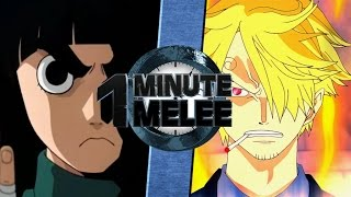 Download One Minute Melee S4 EP3 - Rock Lee vs Sanji (Naruto vs One Piece) Video