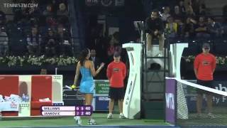 Download Serena Williams and Jelena Jankovic Confrontation in Dubai QF Video