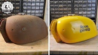 Download Rusty Motorcycle Fuel Tank Restoration Video