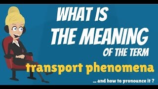 Download What is TRANSPORT PHENOMENA? What does TRANSPORT PHENOMENA mean? TRANSPORT PHENOMENA meaning Video
