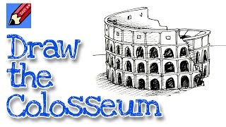 Download How to draw the Colosseum Real Easy for kids and beginners Video