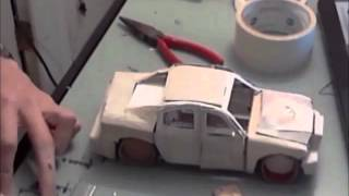 Download Building a Model Car Made of Paper (Time Lapse) Video