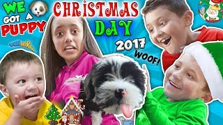 Download CHRISTMAS DAY TEARS of JOY! 🎁 NEW PUPPY! FUNnel Fam Holiday Vlog Video