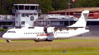 Download ATR72 Turboprop Landing * Wrong Taxiway & Reverse Back Video