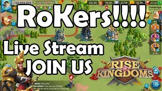 Download RoKers! We are Live! Barb Smash + Edward Wheel bring me Some Good Luck! | RISE OF KINGDOMS Video