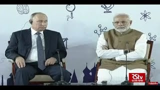 Download PM Modi and Russian President Vladimir Putin interact with a group of children Video