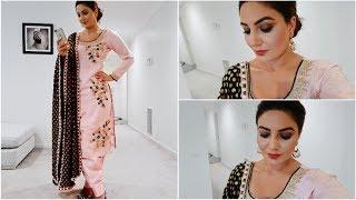Download Full Face Makeup in Punjabi- Wearing Pink Suit (Smokey Eyes look) Video