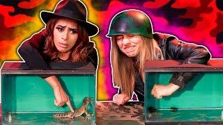 Download YouTubers VS El animal secreto. Casi pierden un dedo Video