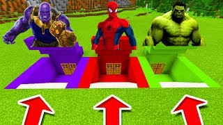 Download Minecraft PE : DO NOT CHOOSE THE WRONG SECRET BASE! (Thanos, Spiderman & Hulk) Video