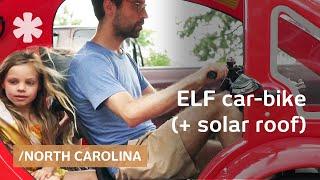 Download ELF solar car-bike for driver + 2 kids, equals 1800mpg Video