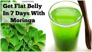 Download Get Flat Belly/Stomach In 7 Days - No Diet/No Exercise - 100% Natural Moringa Green Detox Diet Drink Video