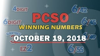 Download P49M Jackpot Prize Ultralotto 6/58, EZ2, Suertres, 4Digit,Megalotto 6/45 Draw | October 19, 2018 Video