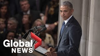 Download John McCain funeral: Barack Obama FULL eulogy Video