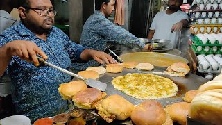 Download Special Egg Burger of India | Omlet Pav Making | Indian Street Food Video
