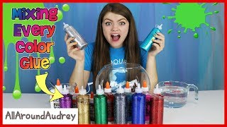 Download Every Color Glue Slime Challenge / AllAroundAudrey Video