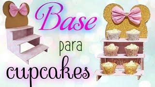 Download BASE DE CARTÓN PARA CUPCAKES DISNEY / cupcakes stand DIY Video