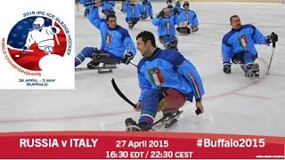 Download Russia v Italy | Prelim | 2015 IPC Ice Sledge Hockey World Championships A-Pool, Buffalo Video