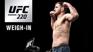 Download UFC 220: Official Weigh-in Video