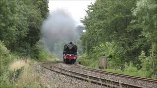Download Triple Steam Action - 45596, 70000 and 6233 over the Welsh Marches and Devon Banks - 20th-21st July Video