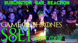 Download Game Of Thrones // Burlington Bar Reactions // S8E1 ″Winterfell″ Part ONe! Video