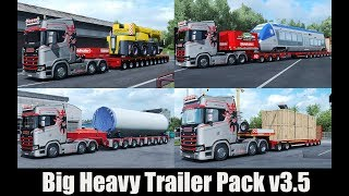 Download ✅ ETS2 1.30 - Big Heavy Trailer Pack v3.5 Video