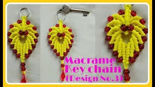 Download Easy Tutorial oF Macrame Keychain (Design No.03) Video