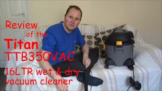 Download Product Review of the Titan TTB350VAC 1300W 16LTR wet & dry vacuum cleaner Video
