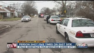 Download Two dead in four separate shootings in Indianapolis Video