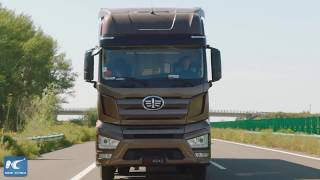 Download China's self-driving trucks finish highway test Video