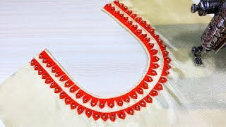 Download Latest Front Neck Design Cutting and Stitching (Easy Method) Video