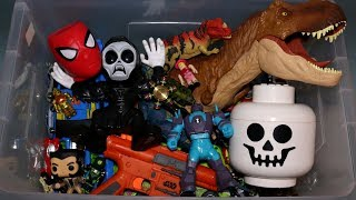 Download Box of Toys: Action Figures, Cars, Dinosaurs, Roblox and More Video