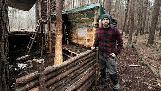 Download Bushcraft Camp: Full Super Shelter Build from Start to Finish. Video