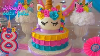 Download Fiesta de unicornios 🦄, arco iris 🌈, decoración temática infantil, niñas Video
