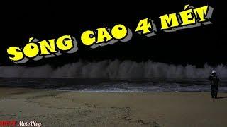 Download Bão số 12 - Damrey | Cận cảnh sóng biển cao trên 4 mét tại Nha Trang| 6 tiếng trước Bão. Video
