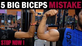 Download 5 BIG BICEPS Mistakes Never Do | How to Grow BIGGER BICEPS (Home/Gym) Video