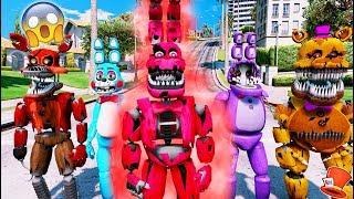 Download BRAND NEW BONNIE ANIMATRONIC! BLOOD NIGHTMARE BONNIE! (GTA 5 Mods For Kids FNAF RedHatter) Video