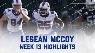 Download LeSean McCoy 130 Rush Yards! (Week 13 Highlights) | Bills vs. Raiders | NFL Video