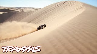 Download The World's Biggest Aerial R/C Assault - Traxxas Invades Glamis Video