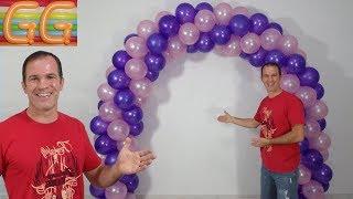 Download como hacer un arco de globos - decoracion con globos - arco con globos Video