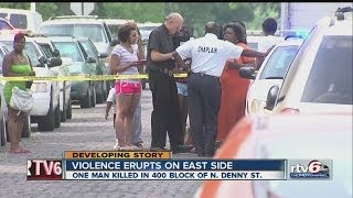 Download 1 dead, 1 injured in shooting on city's east side Video