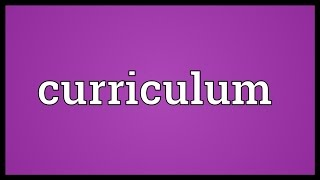 Download Curriculum Meaning Video