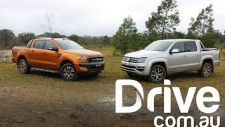 Download 2017 Ford Ranger Wildtrak v Volkswagen Amarok V6 Ultimate Comparison | Drive.au Video