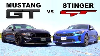 Download Kia Stinger GT vs Mustang GT 10-Speed- Track Review // Lap-Times and Drag Race Video