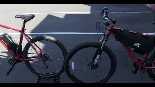 Download SHOOT OUT #1 Haro Hub Motor vs. Explorer Mid Drive Electric Bikes Video