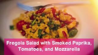 Download Fregola Salad with Smoked Paprika, Tomatoes and Mozzarella | Kitchenando Video