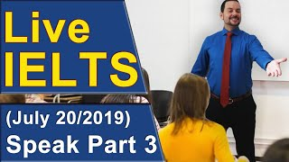 Download IELTS Live - Speaking Part 3 - Answering for Band 9 Video