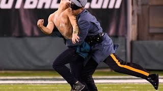 Download Streakers PUMMELED By Jets Security During MNF Video